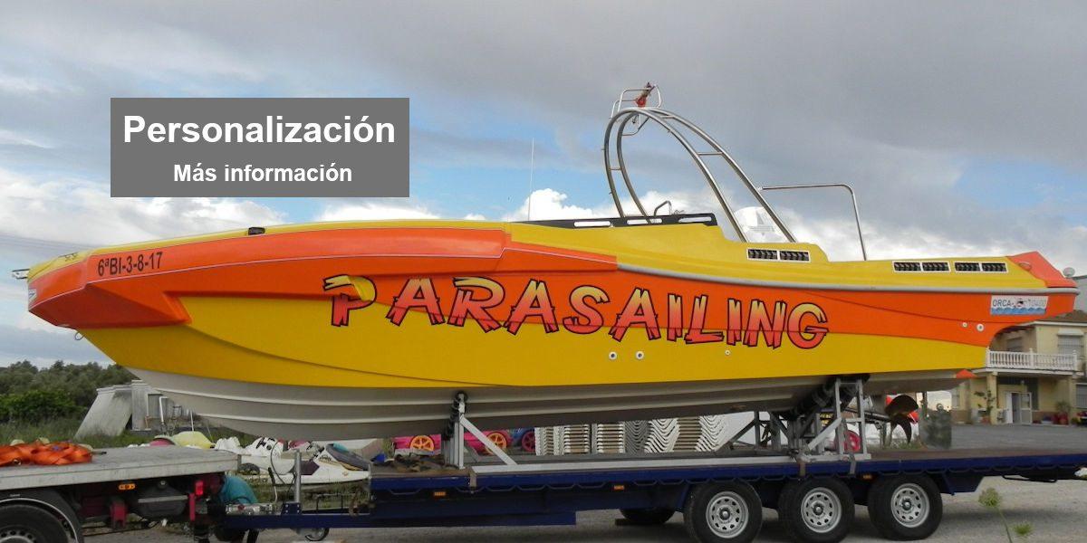 Barco Parasailing Personalizado